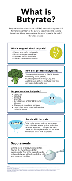 What is a postbiotic butyrate?